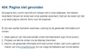 404-melding van Gemeente Heemskerk