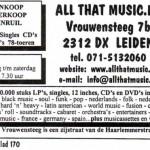Advertentie All That Music
