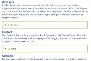 Screenshot website Consuwijzer