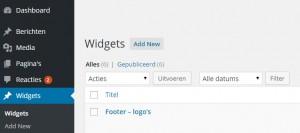 Widgets als apart contenttype