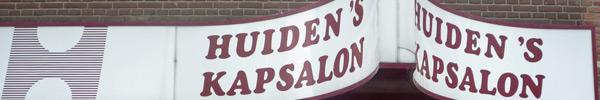 uithangbord Huiden's Kapsalon