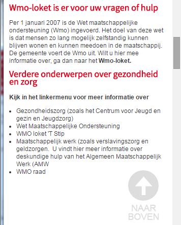 Website gemeente Ooststellingwerf mobiele weergave