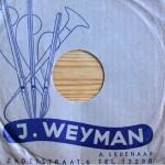 platenzaak Weyman - hoes om 78-toeren plaat