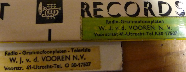 W.J. v.d. Vooren Radio-Grammofoonplaten