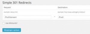 Screenshot WordPress-lugin Simple 301-redirects