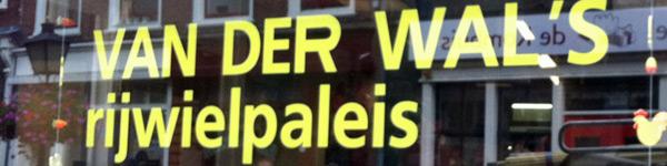 Raamschildering Van Der Wal's Rijwielpaleis