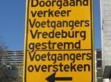 Voetgangers Vredeburg gestremd