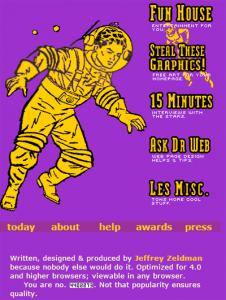 Zeldman.com anno 1999